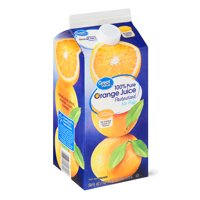Great Value No Pulp 100% Pure Orange Juice, 59 fl oz