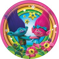 Trolls Paper Dinner Plates, 9in, 8ct
