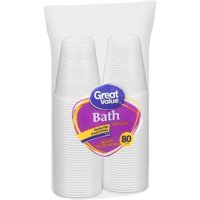 Great Value Plastic Snack Cups, 5 oz, 80 Count