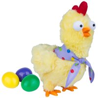 Way To Celebrate Easter Egg Dropping Animated Plush Chicken