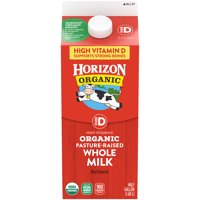 Horizon Organic Whole High Vitamin D Milk, Half Gallon