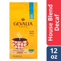 Gevalia House Blend Ground Decaf Coffee, Decaffeinated, 12 oz Bag