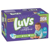 Luvs Pro Level Leak Protection Diapers Size 2