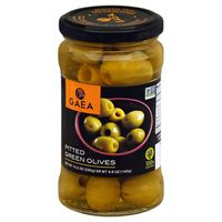 Gaea Olives, Green, Pitted