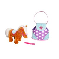 Horse with Plush Bag