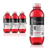 vitaminwater xxx, electrolyte enhanced water w/ vitamins, açai-blueberry-pomegranate drinks, 16.9 fl oz, 6 Pack