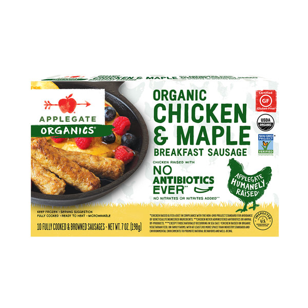 Applegate organics Organic Chicken & Maple Breakfast Sausage, 7 oz