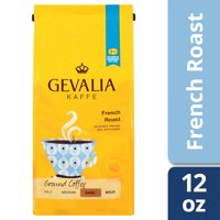 Gevalia French Roast Ground Coffee, Caffeinated, 12 oz Bag