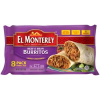 El Monterey Beef and Bean Burritos, 8 Pack Family Size