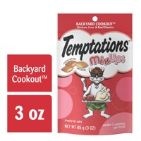(12 Pack) TEMPTATIONS Mixups Treats For Cats Backyard Cookout Flavor, 3 Oz. Pouch