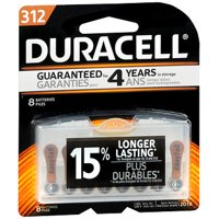 Duracell Easy Tab Hearing Aid Batteries Size 312- 8 pk