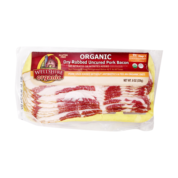Wellshire farms Wellshire Dry Rubbed Organic Pork Bacon, 8 oz