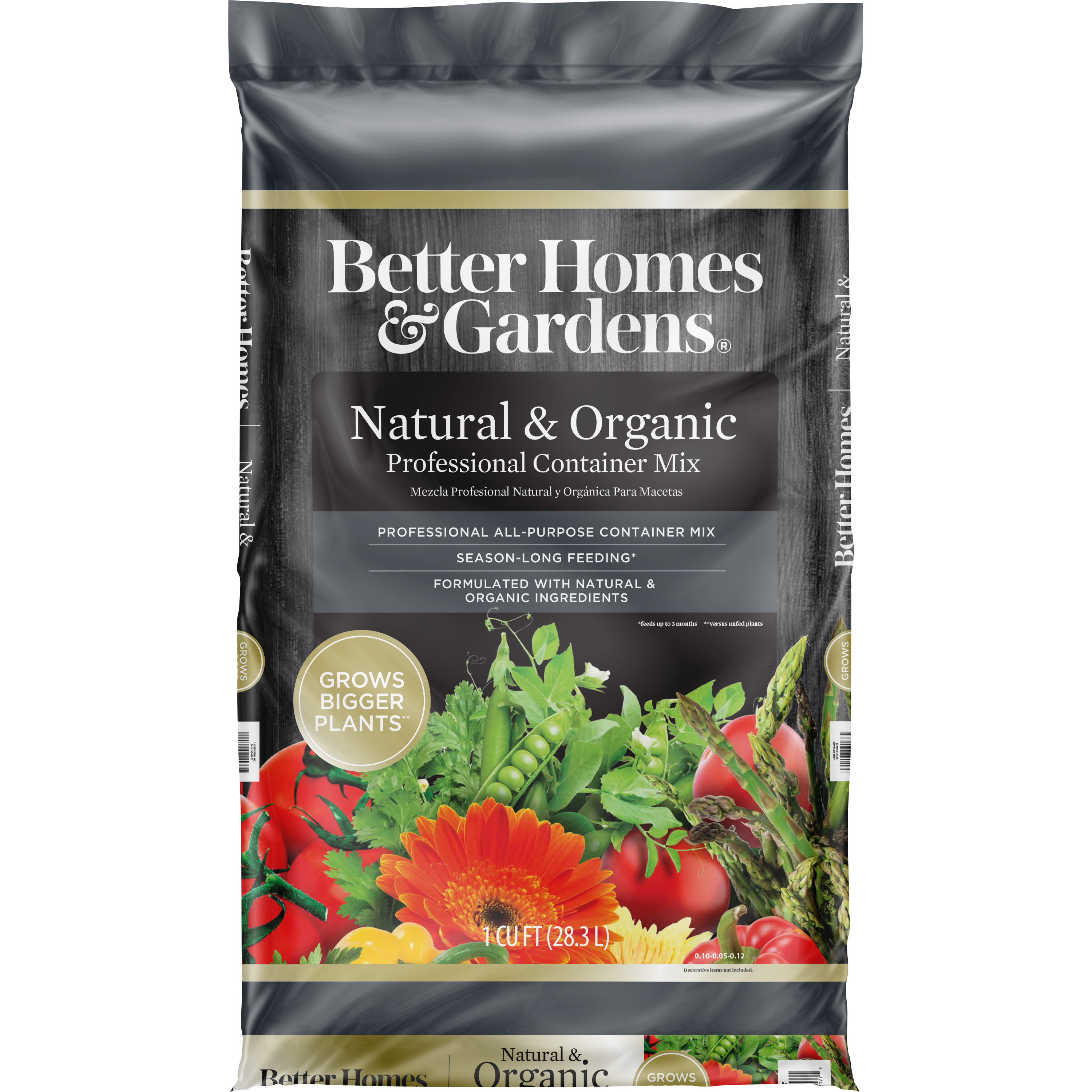 Better Homes & Gardens® Natural & Organic Professional Container Soil Mix, 6 Quart