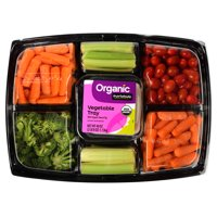 Marketside Organic Vegetable Tray with Organic Ranch Dip, 40 oz