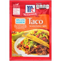 McCormick 30% Less Sodium Taco Seasoning Mix, 1 oz Packet