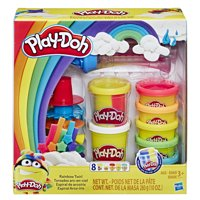 Play-Doh Rainbow Twirl Set with 8 Non-Toxic Cans Featuring 3-in-1 Rainbow Compound (10 oz)