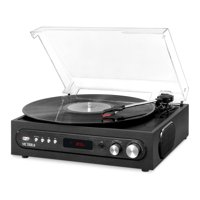 Victrola All-in-1 BT Record Player with Built in Speakers and 3-Speed Turntable, Black
