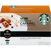 Starbucks Caramel Flavored K-Cups Ground Coffee