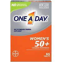 One A Day Women's 50+ Health Advantage Multivitamin / Multimineral Dietary Supplement Tablets - 65ct