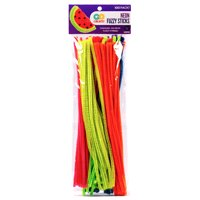 Go Create! ™ Neon Fuzzy Sticks, 100 Pack