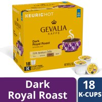 Gevalia Dark Royal Roast Coffee K Cup Coffee Pods, Caffeinated, 18 ct - 6.2 oz Box