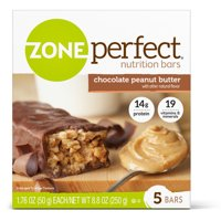 ZonePerfect Protein Bars, Chocolate Peanut Butter, High Protein, With Vitamins & Minerals (5 Count)