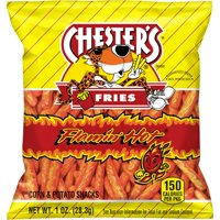 Chester's Flamin' Hot Fries Flavored Corn & Potato Snacks, 1 oz Bag