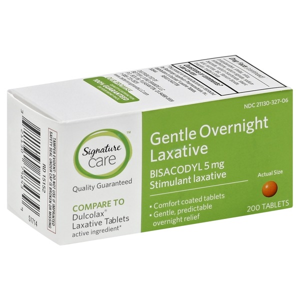 Signature Care Gentle Overnight Laxative Tablets