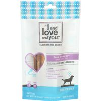 """I and love and you."" Free Ranger Bully Stix Dog Chews"