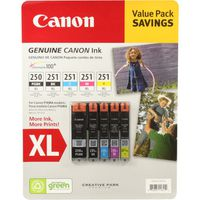 Canon Printer Ink Combo 250 XL / 251 XL, 5 ct