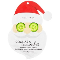 Jean Pierre Cool As A Cucumber Santa Holiday Face Mask - 1ct