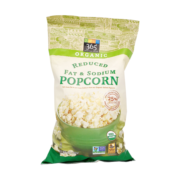 365 everyday value® Organic Reduced Fat & Sodium Popcorn, 6 oz