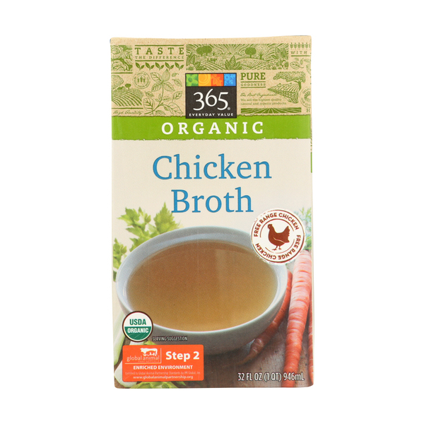 365 everyday value® Organic Chicken Broth, 32 Fl. Oz.