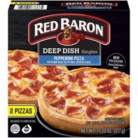 Red Baron Deep Dish Singles Pepperoni Frozen Pizza - 11.2oz
