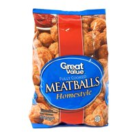 Great Value Fully Cooked Homestyle Meatballs, 32 oz