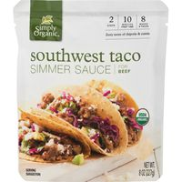 Simply Organic Simmer Sauce For Beef Southwest Taco