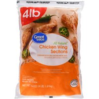 Great Value Frozen Wing Sections 4.0 Lbs