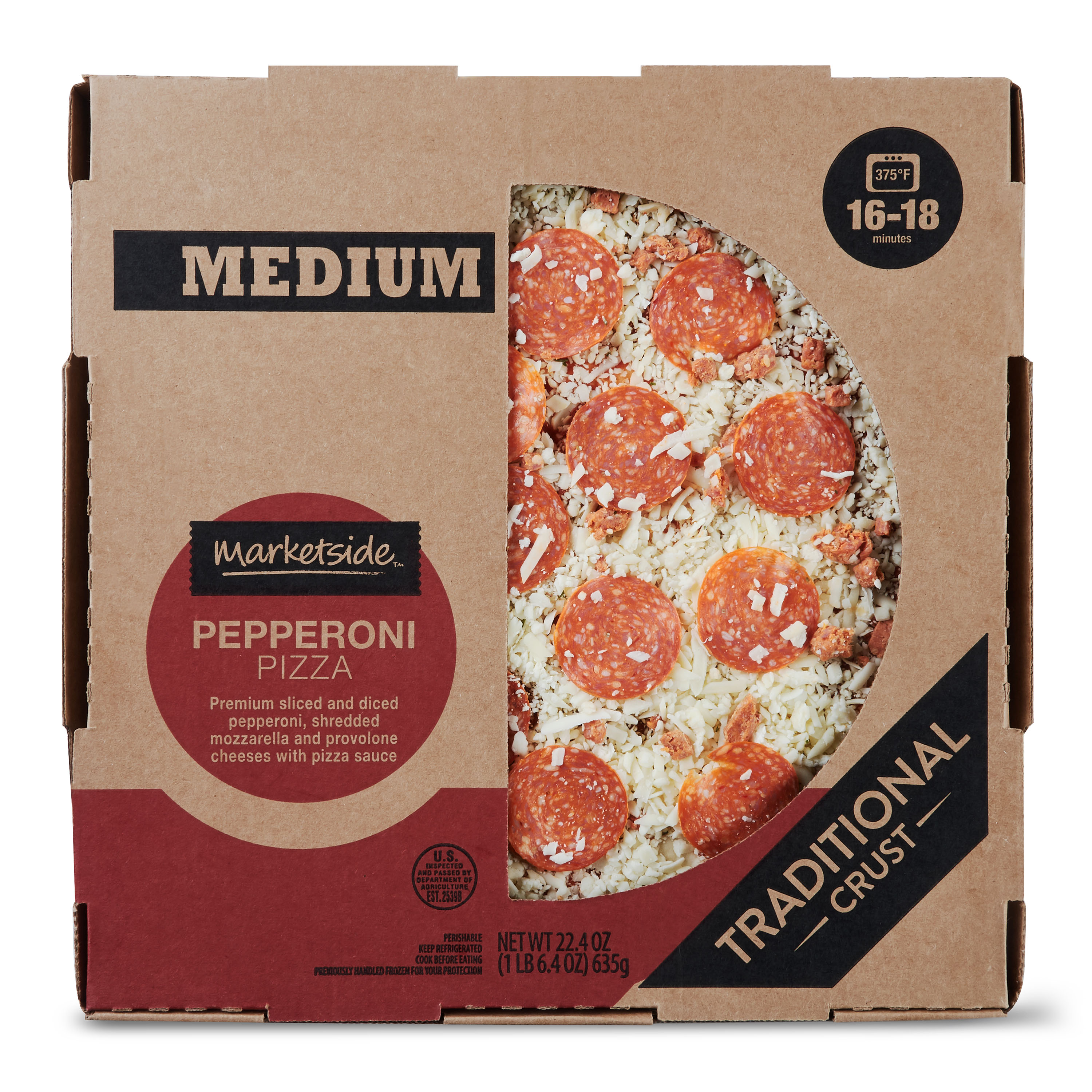 Marketside Pepperoni Pizza, Medium
