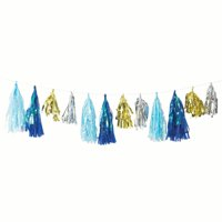 Way to Celebrate Blue Baby Boy Tassel Garland