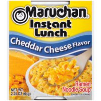 Maruchan Instant Lunch Cheddar Cheese Flavor Instant Lunch, 2.25 oz