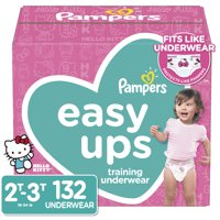 Pampers Easy Ups Training Underwear Girls, Size 2T-3T, 132 Ct