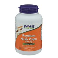 Now Psyllium Husk Caps, 500 mg, Veg Capsules