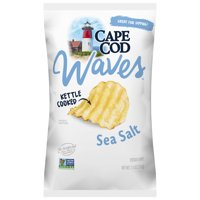 Cape Cod Wavy Cut Sea Salt Kettle Cooked Potato Chips, 7.5 Oz