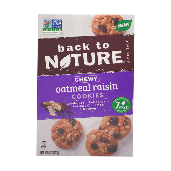 Back to nature Chewy Oatmeal Granola Raisin Cookies, 8 oz