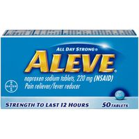 Aleve Pain Reliever/Fever Reducer, 220 mg, Tablets