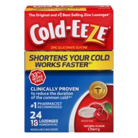 Cold-Eeze Cold Remedy, Cherry, Lozenges, 24.0 CT