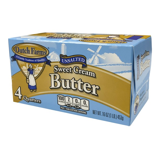 Dutch Farms Unsalted Butter Quarter