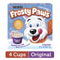 Purina FROSTY PAWS Original Flavor Frozen Dog Treats, 4 Cups per Box, 13 fl. oz. | Ready to eat treat