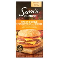 Sam's Choice Bacon Double Steakburger With Cheese, 9.16 oz, 2 count