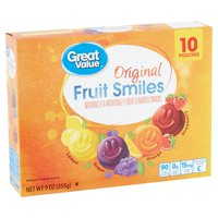 Great Value Fruit Smiles Flavored Snacks 9 Oz.